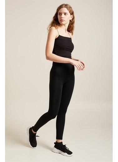 Z Giyim Yüksek Bel İki Beden İnceltici Korse Tayt Siyah